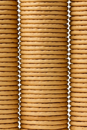 Close up delicious dutch biscuits - isolated on white background Stock Photo - 14430412