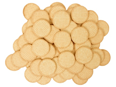 Close up delicious dutch biscuits - isolated on white background Stock Photo - 14430167