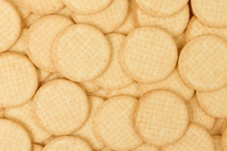 Close up delicious dutch biscuits - isolated, goes with tea Stock Photo - 14430312