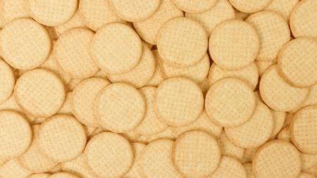 Close up delicious dutch biscuits - isolated, goes with tea Stock Photo - 14430455