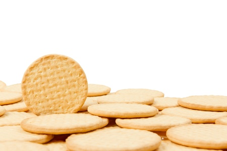 Close up delicious dutch biscuits - isolated on white background Stock Photo - 14429979
