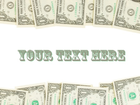 Seamlessly tileable and repeatable 1 dollar bills, US Currency, room for text photo