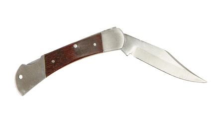 Pocket knife isolated on a white background photo