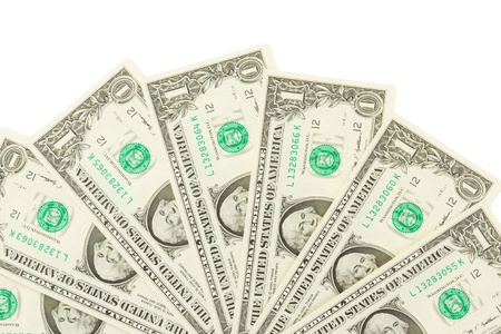 Seamlessly tileable and repeatable 1 dollar bills, US Currency photo