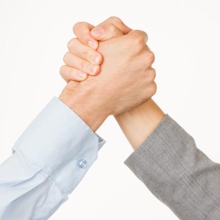 Concurrence entre les entreprises ou lutte, isolé sur blanc