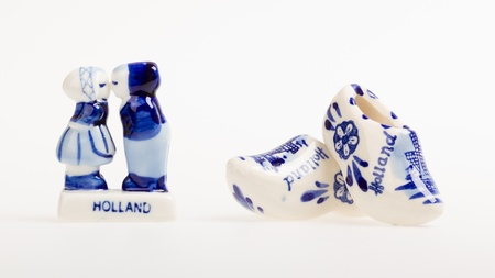 Typical dutch delft blue ceramic, isolated on white Stock Photo - 14524929