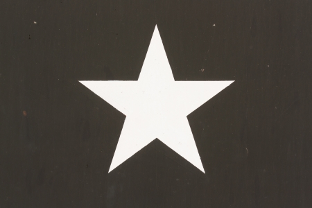 Star Symbol on a Vietnam war US Military Vehicle, isolated photo