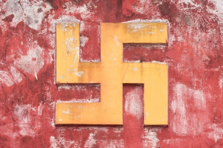 swastik: Swastika symbol in decoration in a ancient temple in Vietnam (Nha Trang)