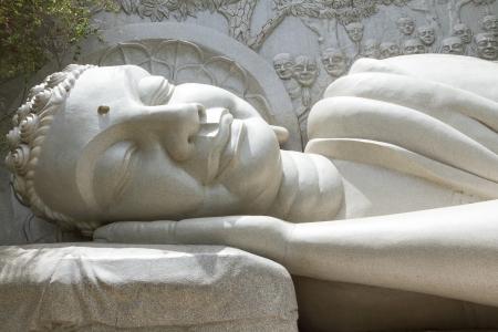 far eastern: Large Sleeping Buddha, landmark on Nha Trang, Vietnam