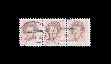 beatrix: HOLLAND - CIRCA 1990: Stamps printed by Holland, shows the head of state, Queen Beatrix, circa 1990 Editorial