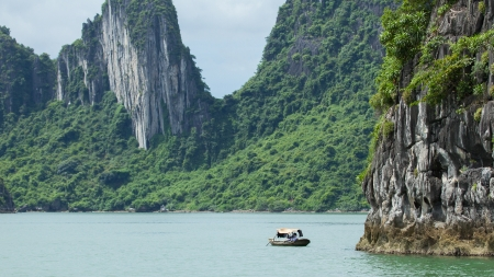 Fishing boat in the Ha Long Bay, Vietnam photo