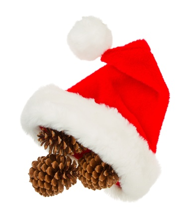 Simple santa hat isolated in white background Stock Photo - 15760642