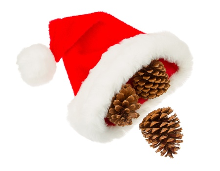 Simple santa hat isolated in white background Stock Photo - 15790044