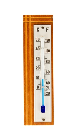 woody: The thermometer made of wood isolated on white background