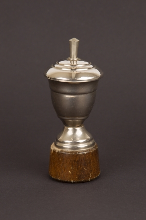 Very old trophy cup isolated on a black background Stock Photo - 16438265