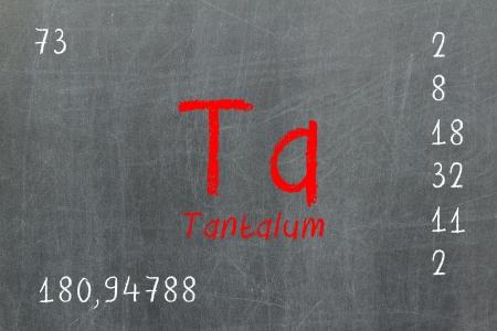 Isolated blackboard with pedic table, Tantalum, Chemistry Stock Photo - 16580885