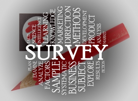 Survey cloud concept with a chechlist background Stock Photo - 16853792