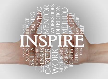 Inspire Cloud-Konzept mit einem inspire Hintergrund Standard-Bild - 16906572