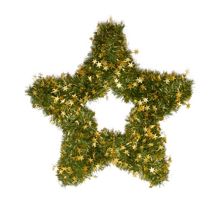 Christmas star ornament isolated on a white background photo