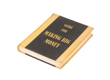 economic recovery: Old book with a making big money concept title, white background
