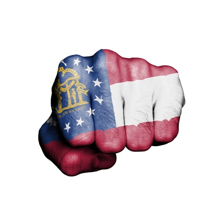 United states, fist with the flag of a state, Georgia Stock Photo - 17734016