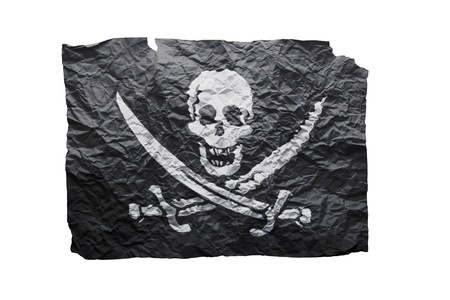 Pirate on paper photo