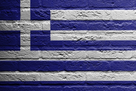 Flag Of Greece Or Greek Banner On Brick Texture Stock Photo Picture And Royalty Free Image Image 37456050