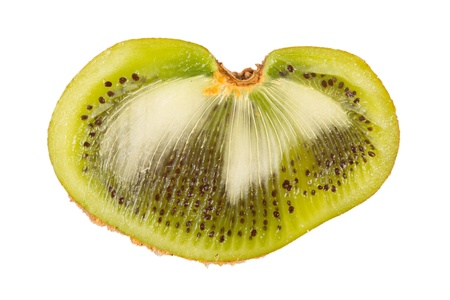 hairy pear: Fresh kiwi with funny deformation, isolated on white Stock Photo