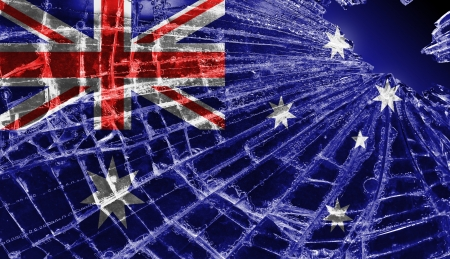 Broken ice or glass with a flag pattern, isolated, Australia Stock Photo - 18068080