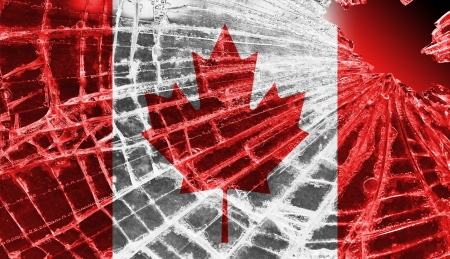 Broken ice or glass with a flag pattern, isolated, Canada Stock Photo - 18068081