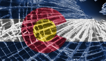 Broken ice or glass with a flag pattern, isolated, Colorado Stock Photo - 18068074