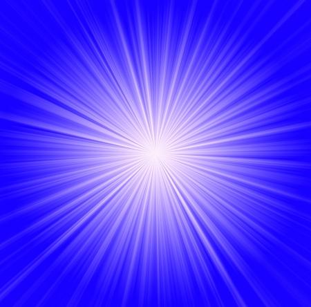 going in: Fondo Starburst, rayos de sol en todas direcciones, azul y blanco Foto de archivo