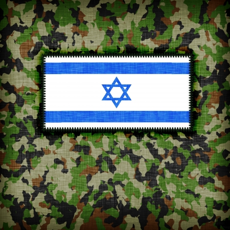 Amy camouflage uniform with flag on it, Israel Stock Photo - 18340093