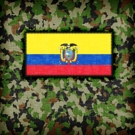 Amy uniforme camuflado con bandera en �l, Ecuador photo