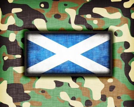Amy uniforme de camouflage avec le drapeau sur elle, en Écosse Banque d'images