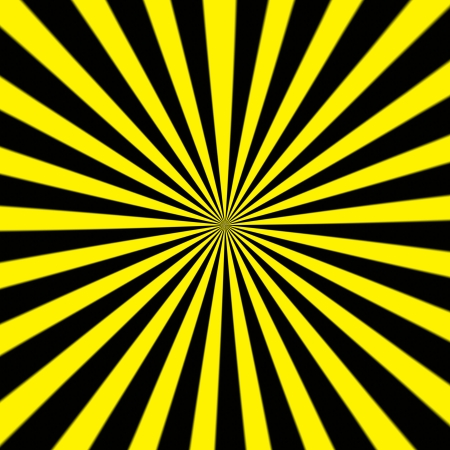 going in: Fondo Starburst, rayos de sol en todas direcciones, amarillo y negro