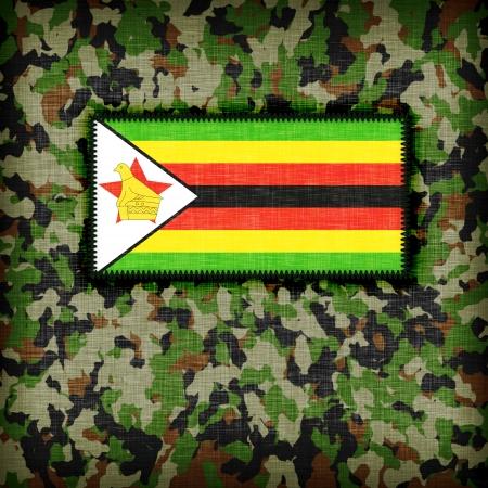 Amy camouflage uniform with flag on it, Zimbabwe photo