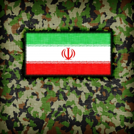 Amy camouflage uniform with flag on it, Iran photo