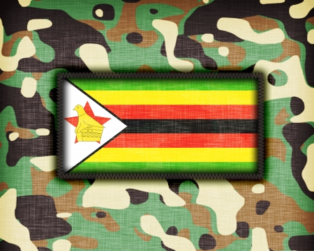Amy camouflage uniform with flag on it, Zimbabwe photo