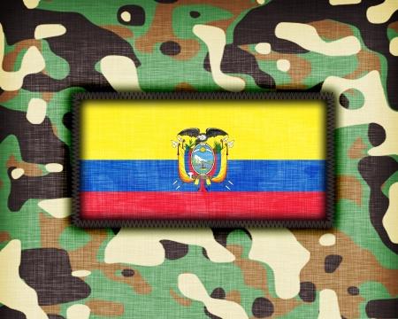 Amy camouflage uniform with flag on it, Ecuador photo