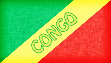 congo: Flag of Congo stitched with letters, isolated
