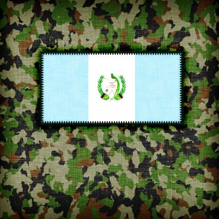 Amy camouflage-uniform met vlag op het, Guatamala