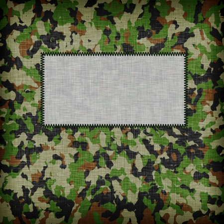 Amy camouflage uniform with emty tag on it photo