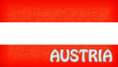 mozart: Flag of Austria with letters stiched on it