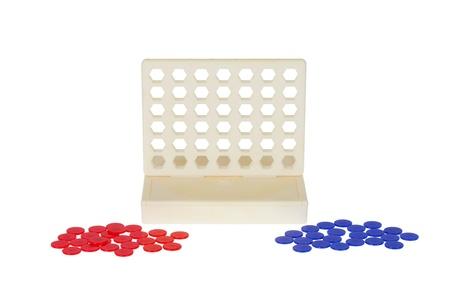 Bingo, line-up 4 isolated in white background Stock Photo - 18785845