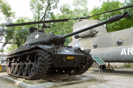 patton: Old M41 tank on display in a museum in Saigon (Vietnam)