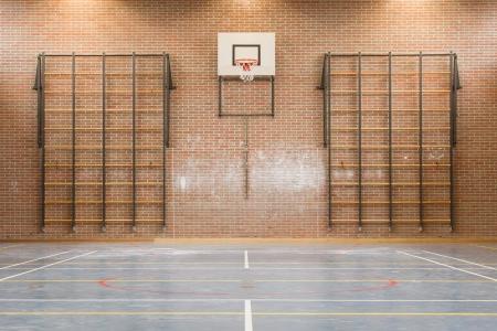 Intérieur d'une salle de gym à l'école Banque d'images