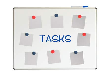Things to do on a whiteboard, isolated on a white background Stock Photo - 19321576