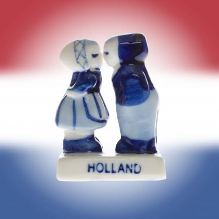 Dutch souvenir as a symbol of Holland, boy and girl Stock Photo - 19321644