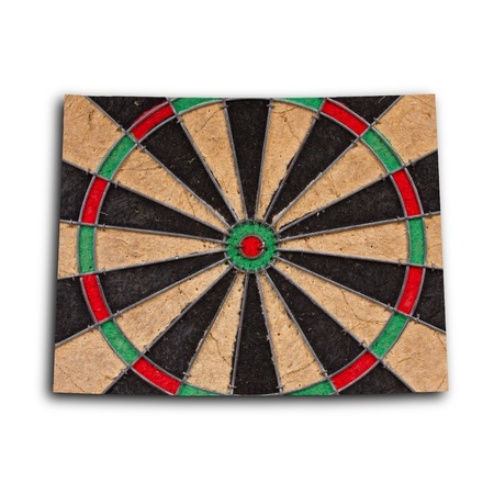 new england: Map of Wyoming, filled with a dartboard with bullseye Stock Photo